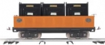 MTH 10-2095 Standard Gauge 200 Series Orange Gondola Car with Black Containers