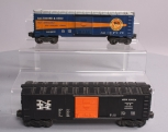 Lionel 6464-400 Baltimore & Ohio Boxcar and 6464-425 New Haven Boxcar