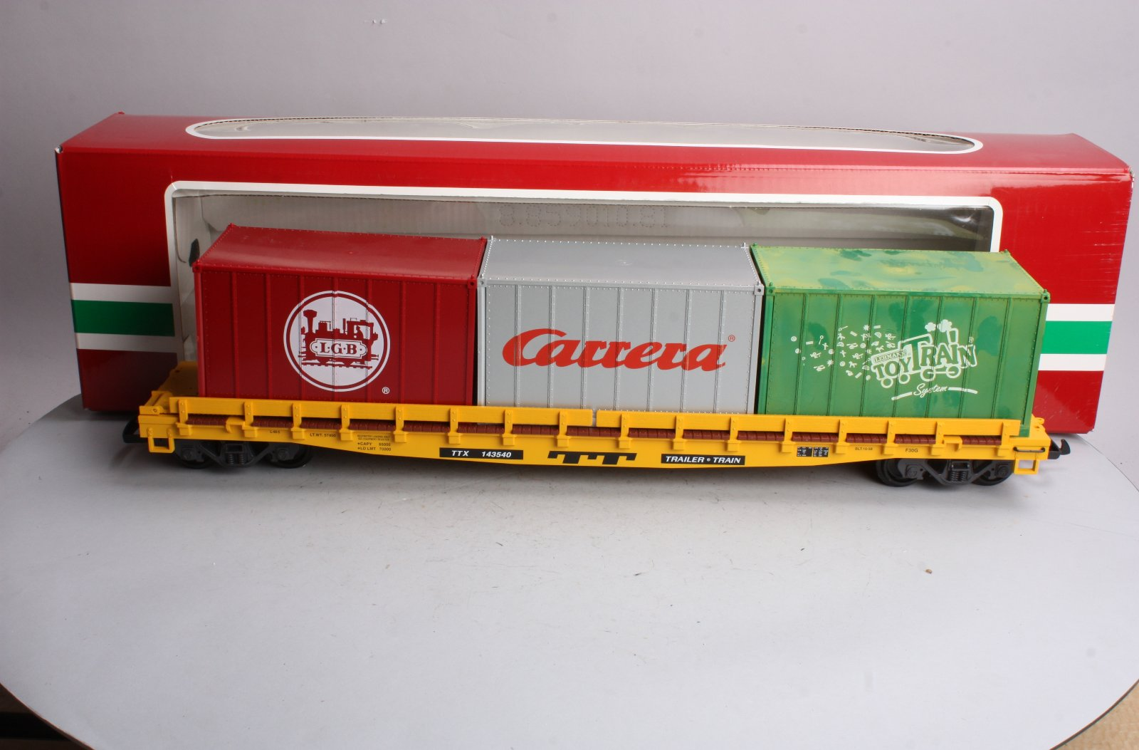 LGB 43540 G Scale TTX Flatcar with Containers LN/Box LGB 43540