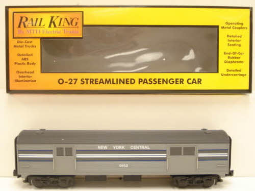 MTH 30-6020 New York Central Streamlined Baggage Car #9152 LN/Box 658081000510 MTH 30-6020