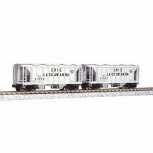 Kato 186-0202 Erie Lackawanna ACF 70T Covered Hopper Set #2 LN/Box