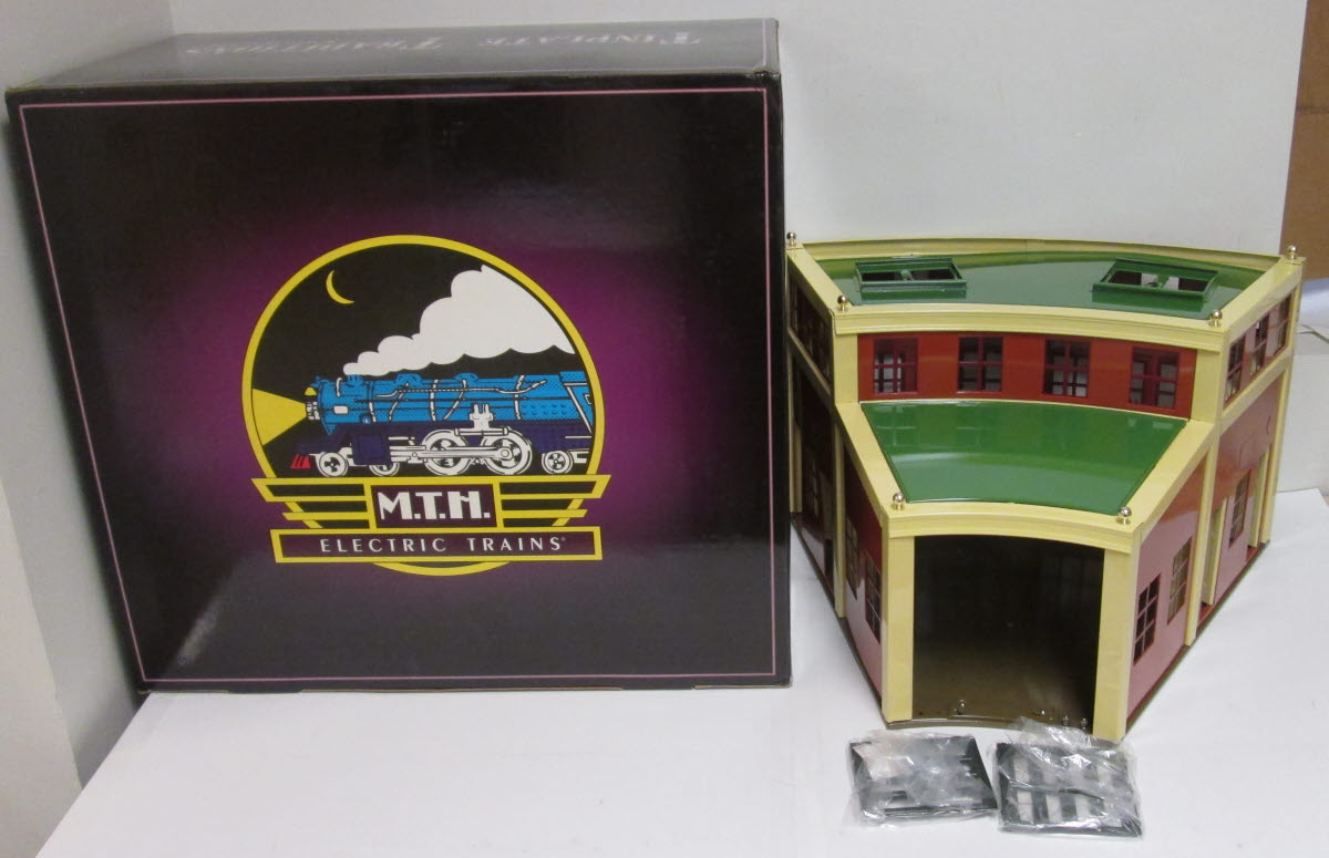 MTH 10-1111 No.444 Roundhouse Section EX/Box 658081014883 MTH 10-1111