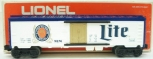Lionel 6-9874 Miller Lite Beer Billboard Reefer Car NIB