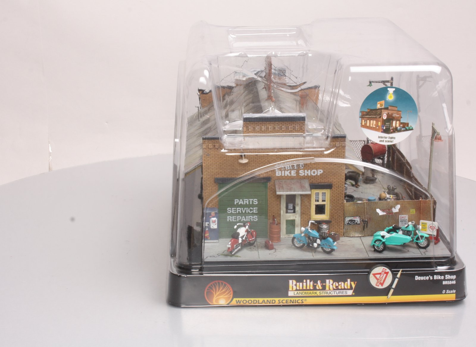 Woodland Scenics BR5846 O Scale Built-Up Duece's Bike Shop Building NIB 724771058465 Woodland Scenics BR5846