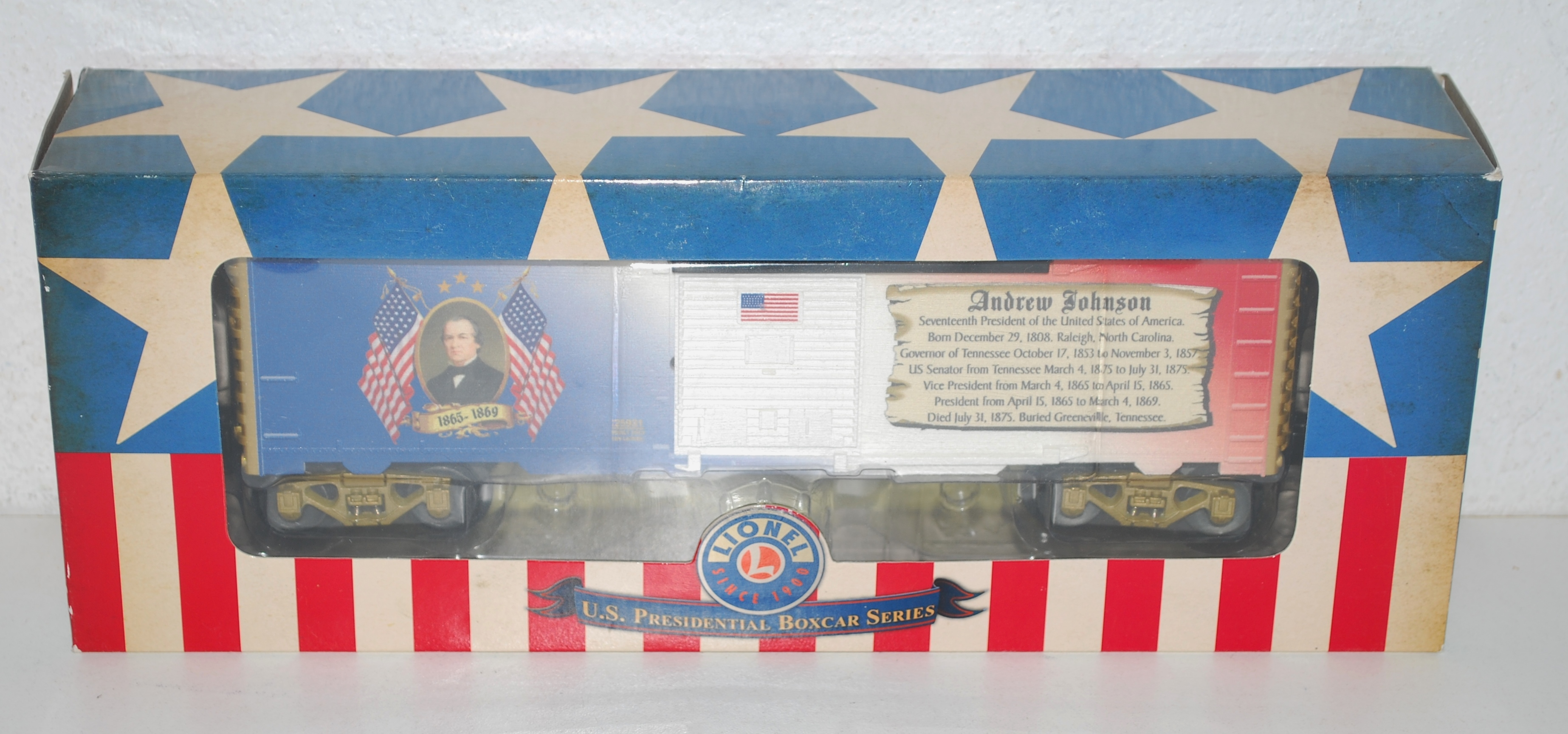 Sonstige Lionel Presidential Series Andrew Johnson Boxcar