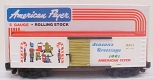 American Flyer 6-48311 S Scale 1991 Season's Greetings Boxcar LN/Box
