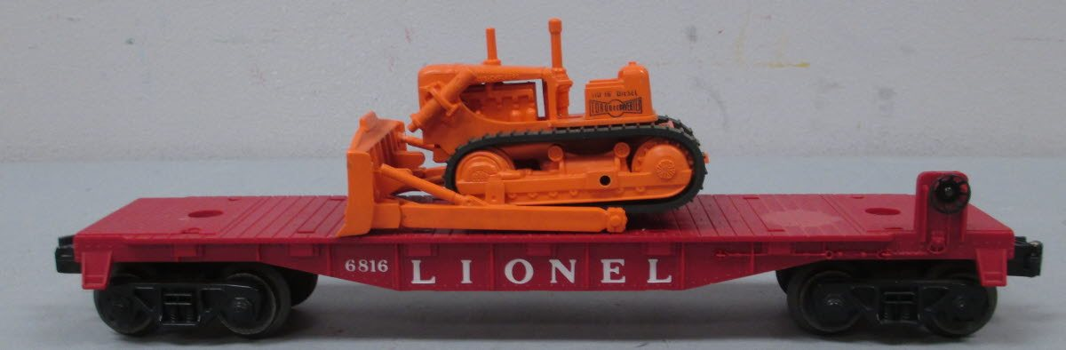 Buy Lionel 6816 Flatcar with Allis Chalmers Tractor Dozer