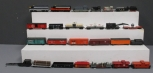 HO Scale Assorted Vintage Diesel Locomotives, Tenders & Freight Cars [26]