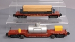 American Flyer 948 Track Cleaning Car & 971 Southern Pacific Lumber Unloading Ca