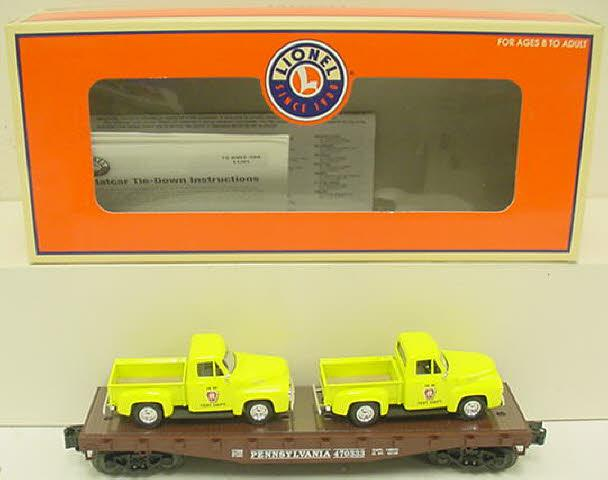Lionel 6-17568 Pennsylvania Flatcar with Pickup Trucks