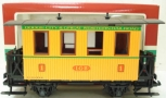LGB 3006 Dodge City & Great Western Short Yellow Passenger Car (Plastic Wheels)