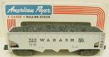 American Flyer 6-48603 S Scale Wabash 3 Bay Hopper w/ Coal Load LN/Box