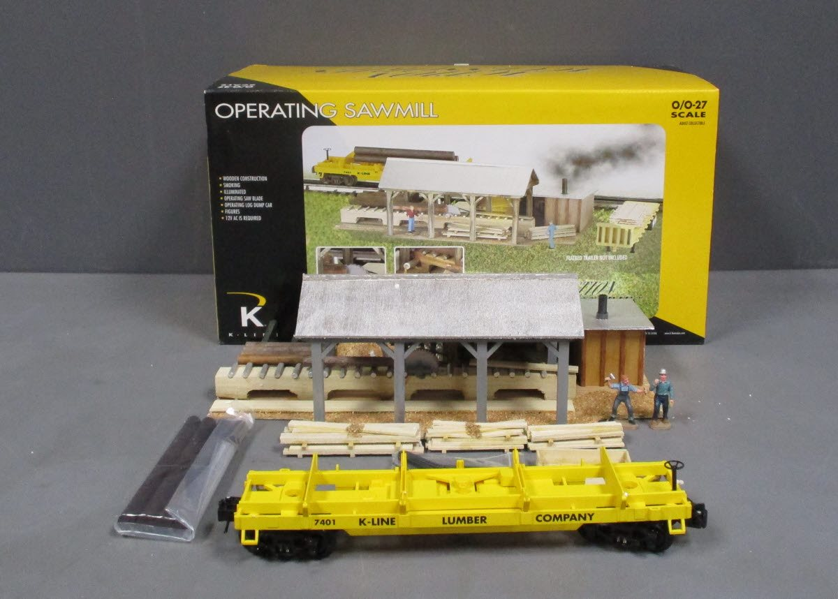 Buy K-Line K42450 O Scale Operating Sawmill EX/Box | Trainz Auctions