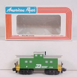 American Flyer 6-48706 S Scale Burlington Northern Square Window Caboose #8706