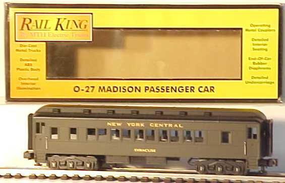 MTH 30-6211 NYC Madison Rochester Coach Car EX/Box 658081000725 MTH 30-6211