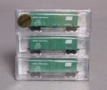 Deluxe Innovations 130303 N Scale Penn Central 40' AAR Boxcar (Pack of 3) NIB