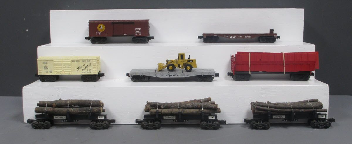 Lionel & Other O Scale Assorted Freight Cars; 6-5147, 6-6014, 6-16719, 6-9121 [8