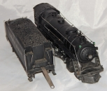 Prewar Lionel 226e diecast Steam Loco + 2226W whistle Tender Very Clean Runs