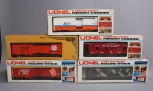 Lionel MPC Standard O Freight Cars: 6-9882, 6-5727, 6-9184, 6-9733, 6-9879 EX