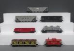 Lionel O Scale Assorted Postwar Freight Cars: 5464-46, 6346-56, 2457, 6415, 6462