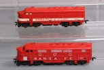 American Flyer HO Scale Vintage L-3003 Santa Fe F3A Diesel & 31037 M&St.L F3A Di