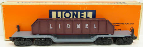 Lionel 6-6509 16 Wheel Flatcar w/Girder Load EX/Box 023922665096 Lionel 6-6509
