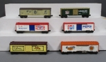 Lionel O Gauge MPC Freight Cars: 6-5705, 6-7701, 6-7703, 6-7800, 6-7802, 6-9860