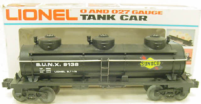 Lionel 6-9138 Sunoco Triple Dome Black Tank Car NIB 023922691385 Lionel 6-9138