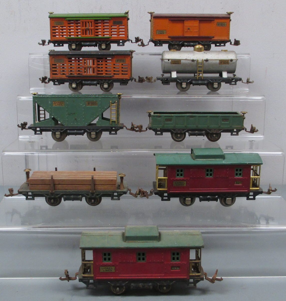 Buy Lionel O Gauge Assorted Prewar Freight Cars (9) | Trainz