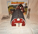 2001 HTF Ertl 12201 Rounded Gable Big Barn + Windmill 1/64 O/S Farm Country Toy