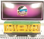 MTH 10-2054 Standard Gauge Orange and Pea Green 213 Cattle Car NIB
