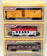 Interesting Lifelike 8459 3 pack of Ho Cars Campbells Beans CNW Western Maryland