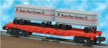 American Flyer 6-48533 PFE flatcar w/ 2 piggyback trailers Pacific Fruit Express