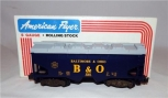 American Flyer 4-9201 Baltimore & Ohio Covered Hopper B&O BOXED S gauge HARR