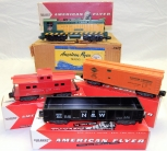 ORIGINAL 1956 American Flyer 5605T Flying Freighter 355 BOXED SET clean CNW S