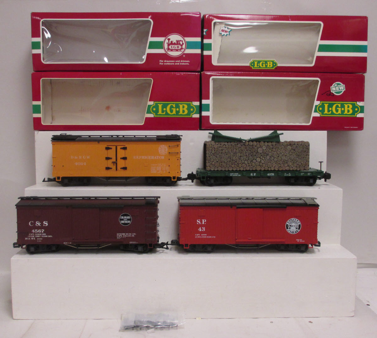 Buy G Scale Lgb Cars 4078 45670 4067 43900 4 Box Trainz Auctions Photo From Seller