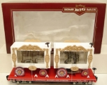 Bachmann 98372 G Scale Circus Flatcar With 2 Animal Cages LN/Box