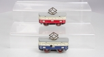 KB HO Scale Tin Clockwork Wind-Up Trolley Cars [2]