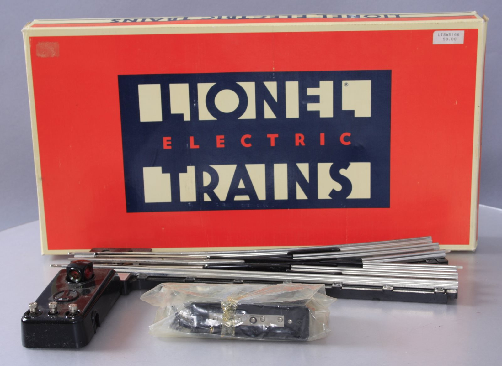 Lionel 6-5166 O O72 Left Hand Remote Control Switch Turnout EX/Box 023922651662 Lionel 6-5166