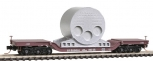 MicroTrains 10900092 N Scale Southern Pacific Depressed-Center Flat with Boiler