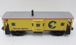 MTH 30-7713 Chessie Bay Window Caboose #3027 new