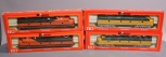 Rivarossi HO Scale GN, C&NW Diesel Locomotives: 1952, 1962 [4] EX/Box