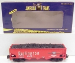 American Flyer 6-48622 S Scale Burlington Hopper With Coal Load NIB