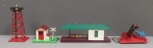 Lionel O Gauge Postwar Accessories: 256, 145, 397 & Custom Painted Beacon Tower