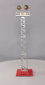 Lionel 92 Standard Gauge Red and Aluminum Tall Dual Light Floodlight Tower - Res