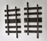 """TWO LGB 1015 Straight Extension Tracks 5 7/8"""" G scale Used Brass rail brown ties"""