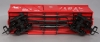 USA Trains R1445B G Jersey Central Outsided Braced Box Cars (Red) #66893 (Plasti  USA Trains R1445B