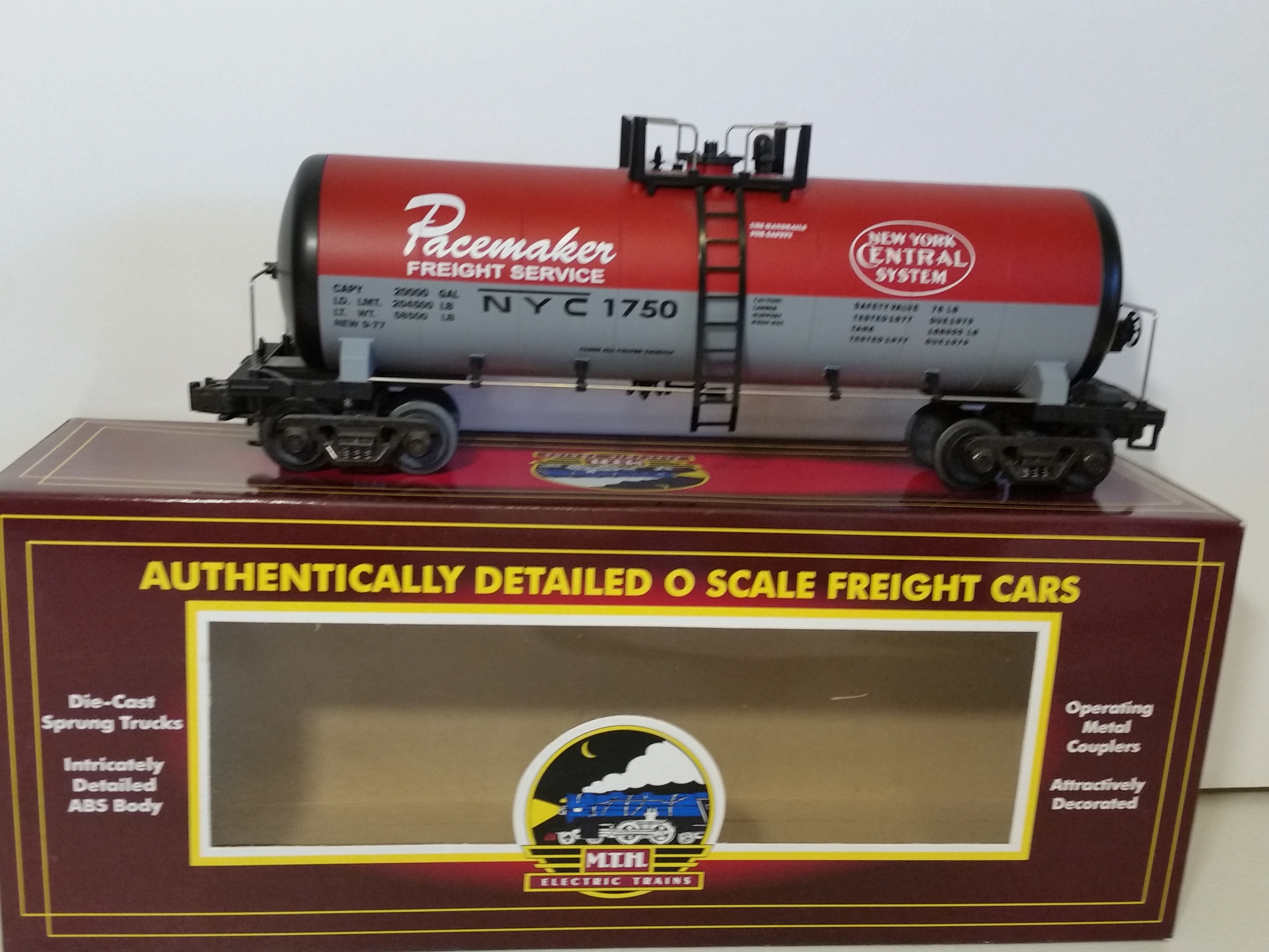 MTH 20-9202 NYC Pacemaker Unibody Tank Car