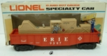 Lionel 6-9307 Erie Animated Cop & Hobo Gondola LN/Box