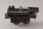 Vintage O Gauge Prewar Tinplate 0-4-0 Clockwork Steam Locomotive